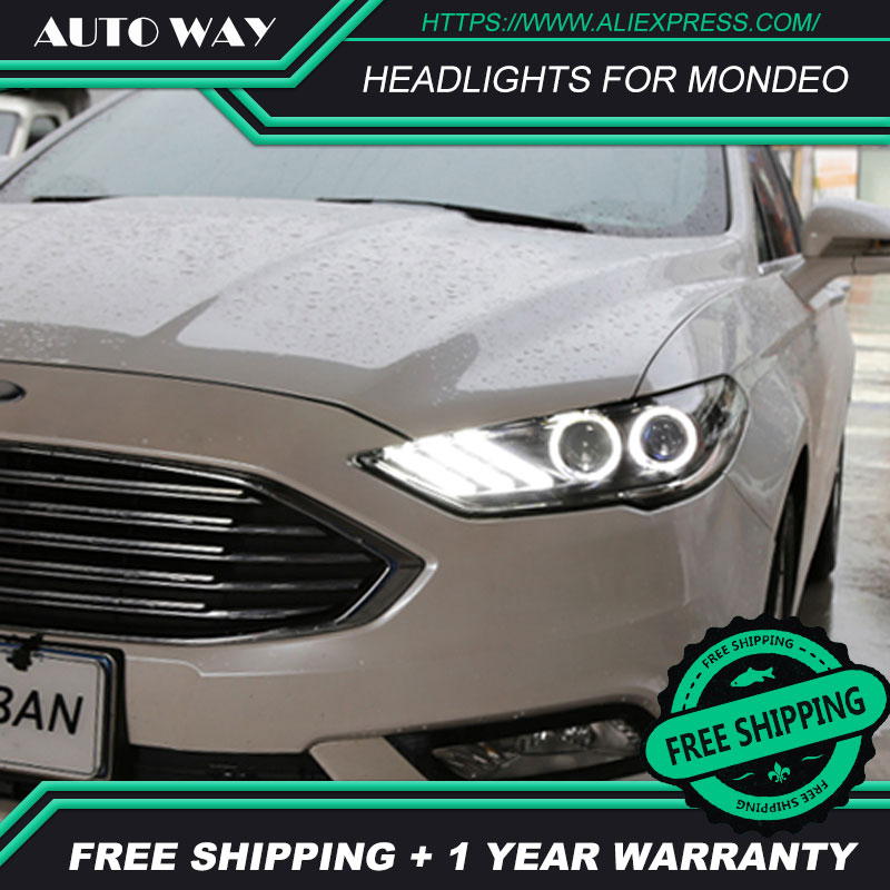 Car styling LED HID Rio LED headlights Head Lamp case for Ford Mondeo headlights 2018 Ford