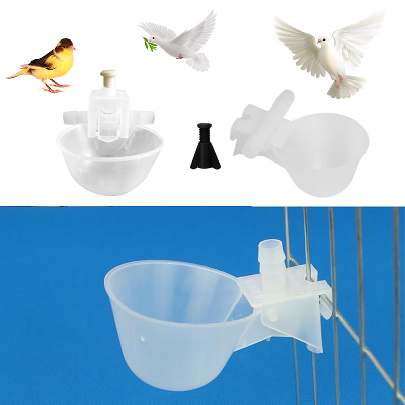 Top Quality 5Pcs Poultry Bird Chicken Water Drinker Cup Plastic Bowl Automatic Drinking jun28 Кубок