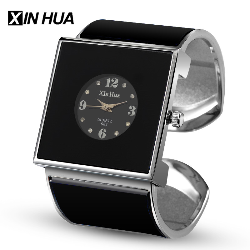 XINHUA Women Watches Quartz Stainless Steel Bracelet Bangle Rhinestone Designer Unique Watch Dress Female Relogios Feminino
