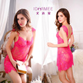 IDARMEE Sexy Lingerie Hot 3 Color Perspective Backless Lace Erotic Lingerie+thongs XL Sexy Babydoll Chemise Sexy Costumes S6466