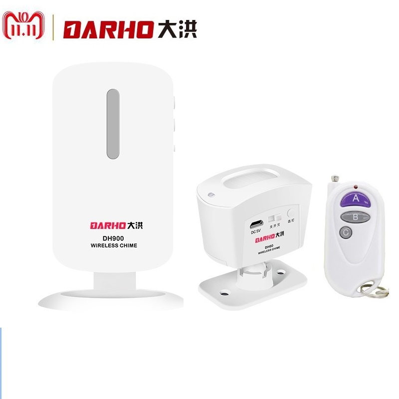 Darho Home Alarm Security System Wireless PIR Infrared Motion Sensor Detector With Remote Controllers Door Window Anti-Thef home alarm security system wireless pir infrared motion sensor detector with 2pcs remote controllers door window anti theft