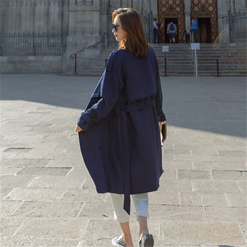Fashion Windbreaker Coats Long section 2019 New Spring Autumn Coat Women Trench Coats Korean Loose Casual