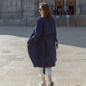 Image 5 - Mode coupe vent manteaux longue section 2020 nouveau printemps automne manteau femmes Trench manteaux coréen lâche décontracté dames vêtements dextérieur N402
