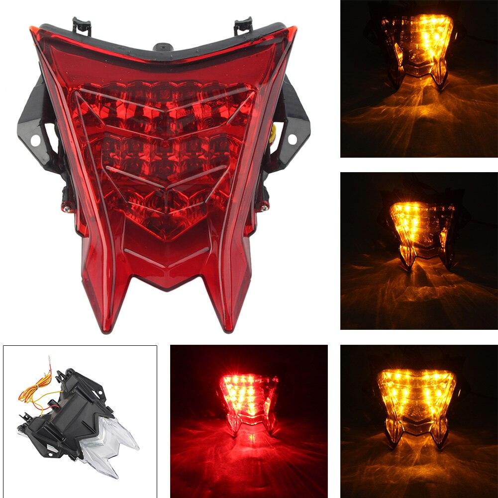 Feu arrière moto intégré clignotant feu arrière LED pour BMW S1000RR 2009-2018/HP4 2010-2016/S1000R 2014-2016