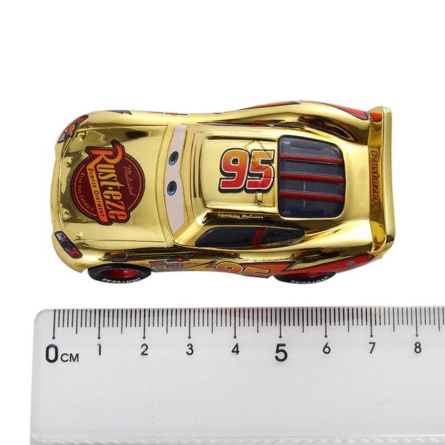Cars 3 Disney Pixar Cars Metallic Finish Gold Chrome McQueen Metal Diecast Toy Car Lightning McQueen Children's Gift 6