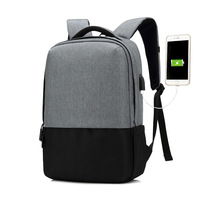 Men Backpack With USB Charging Headphone Interface Port Lock Business Travel Anti Theft Backpacks Back Pack Bag School Backpack