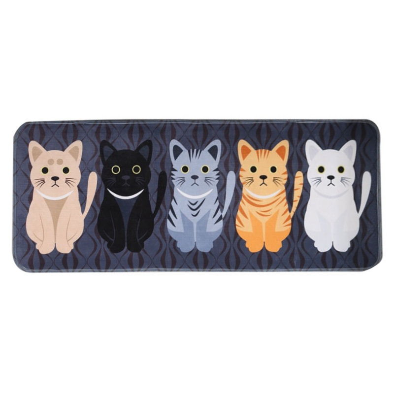 Mats Cartoon Animal Cat Printed Bathroom Kitchen Absorbent Carpets Modern Simplicity Com ...