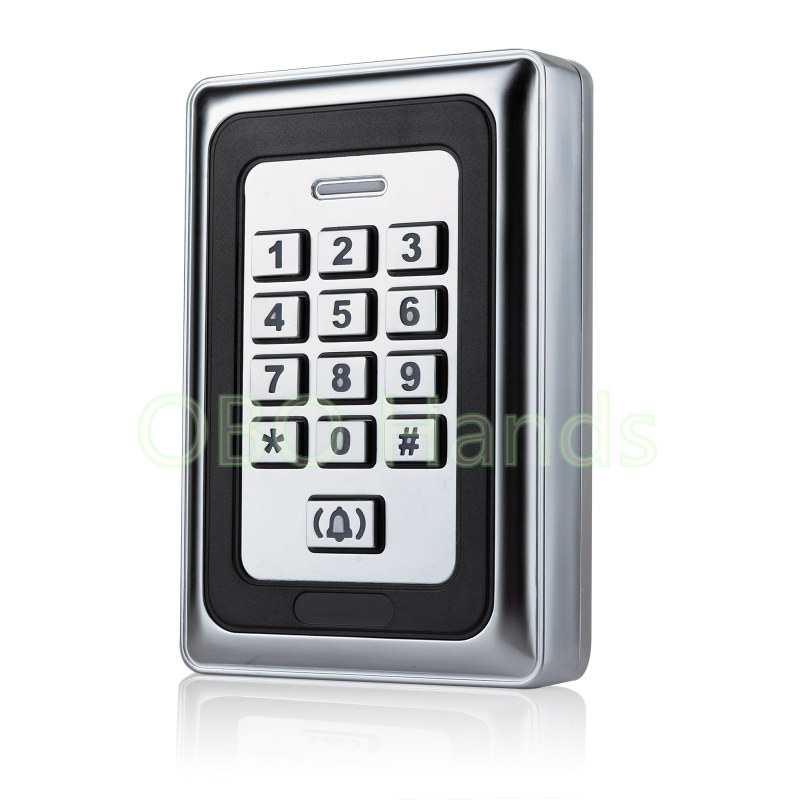 RFID Sliver Waterproof Metal Access Control Lock Keypad For Door Security Control System ID Card Reader Digital Door Locks-K88 wg input rfid em card reader ip68 waterproof metal standalone door lock access control with keypad support 2000 card users