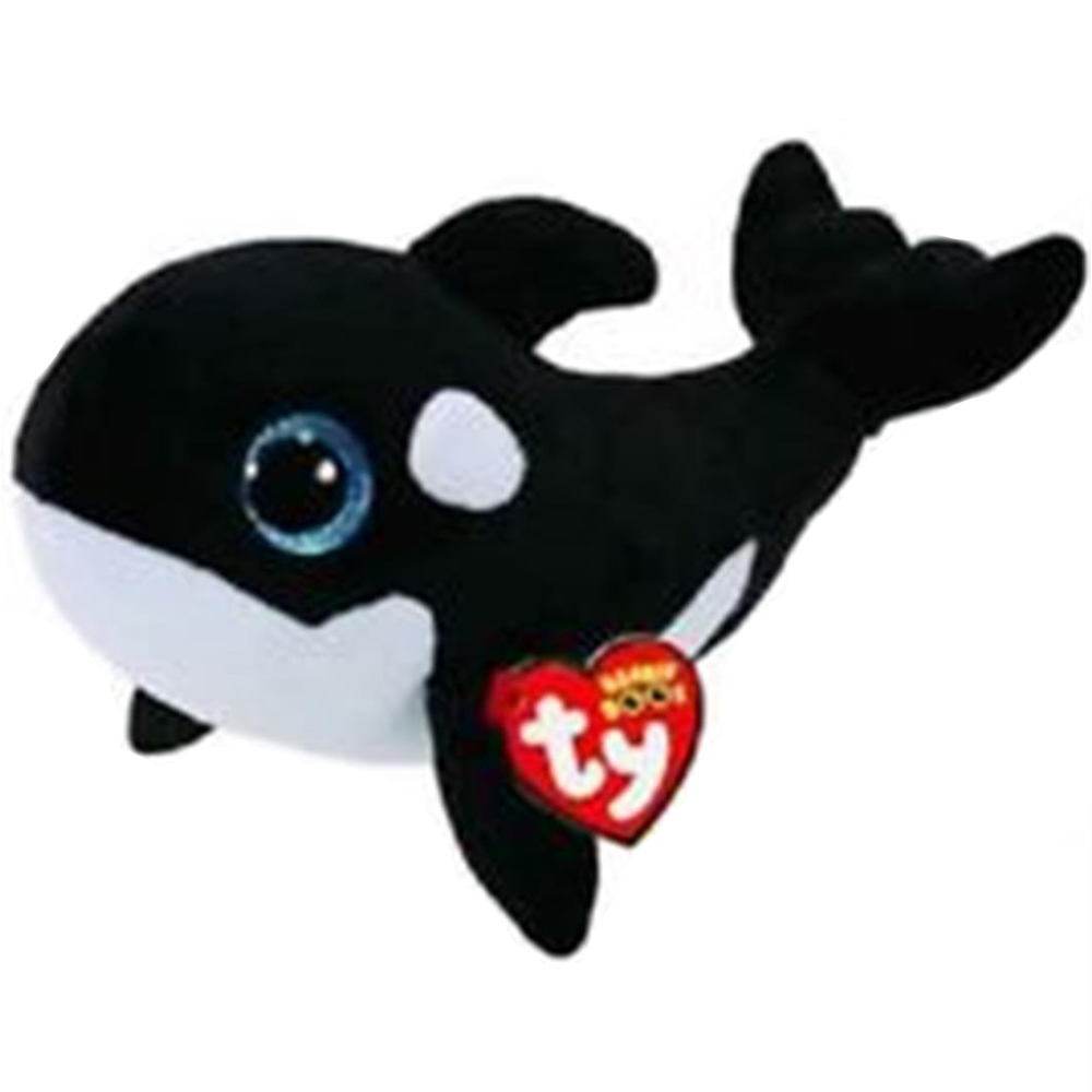 Us 4 74 5 Off Pyoopeo Ty Beanie Boos 6 15cm Nona The Orca Whale Plush Regular Soft Big Eyed Stuffed Animal Collection Doll Toy With Heart Tag In