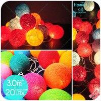 3 M 20 Leds Katoen Ballen Lights Party Xmas DIY decoratie Luces de navidad Bruiloft Slaapkamer Decoraties Festival Lantaarn