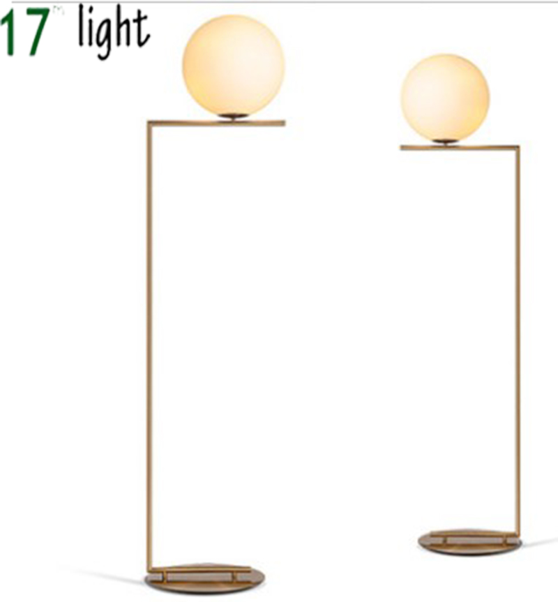 creative simple floor lamps glass ball standing lamp chrome gold for living room bedroom new design