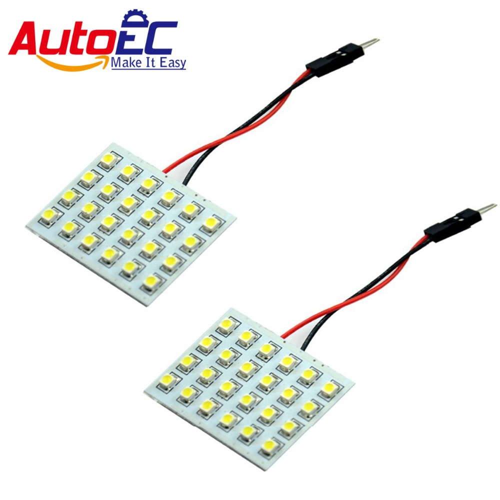 autoec dome panel lamp 1210 3528 3528 24smd led car car interior map roof reading. Black Bedroom Furniture Sets. Home Design Ideas