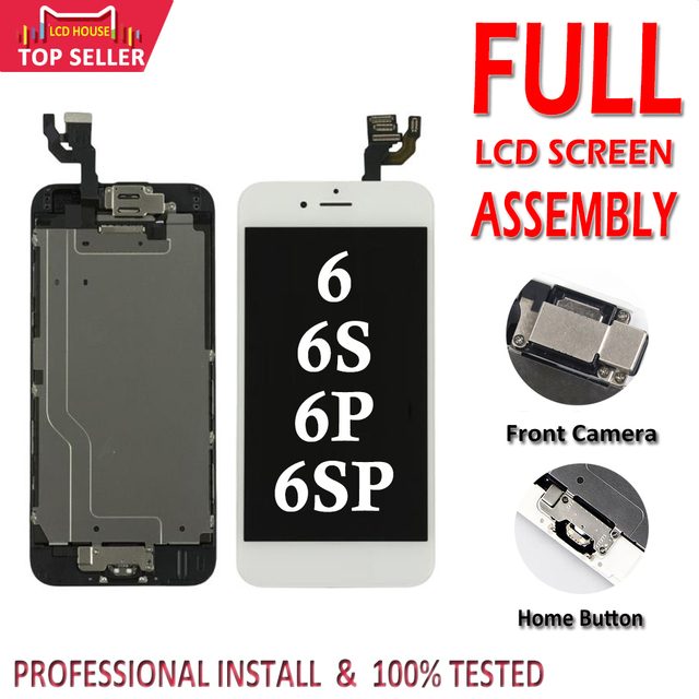 1 PC Full Set LCD Display Für iPhone 6 6 S Plus LCD Screen Digitizer Montage 6 P 6SP Komplette bildschirm mit Front Kamera + Home Button
