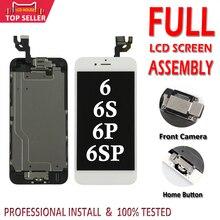 1 PC pełny zestaw wyświetlacz LCD dla iPhone 6 6 S Plus LCD ekran Digitizer zgromadzenie 6 P 6SP kompletny ekran z przodu kamera + przycisk Home
