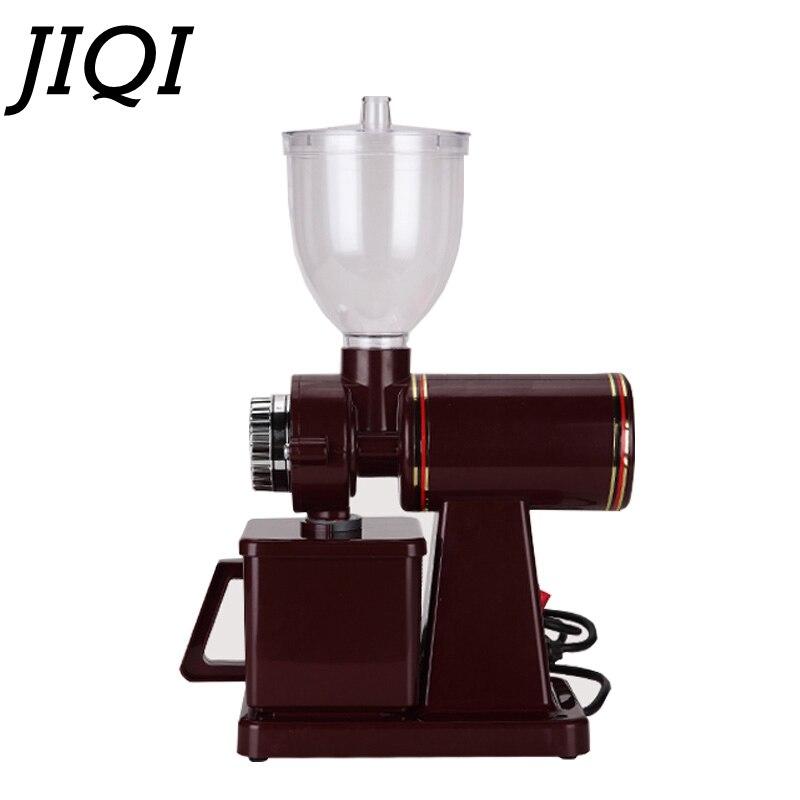 JIQI 110V/220V Automatic electric coffee grinder machine coffee Burr Mill  Storage Capacity (250g)  coffee mill-in Electric Coffee Grinders from Home Appliances    2