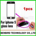 1pcs hot sale black replacement screen for iphone 5 glass lens +Free tools+3M sticker free shipping B1270-2
