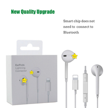 For Lightning Plug Apple Earpods Original In-ear Earphones for iPhone with Micro