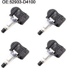 цена на 4 PCS New Tire Pressure Sensor For Optima Sportage Sorento Genesis Ioniq Niro VELOSTER G90 52933-D4100 52933D4100 TPMS Sensor