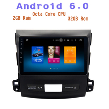 for Mitsubishi Outlander 2007-2012 Android 6.0 4g ram Octa Core Car radio gps with 1024*600 screen 4G wifi usb Stereo Auto RDS