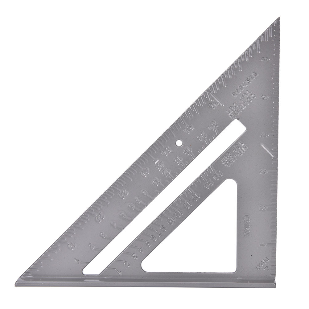 Office Supply Aluminum Ruler Speed Square Protractor Miter Framing Measuring Tool Carpenter 7