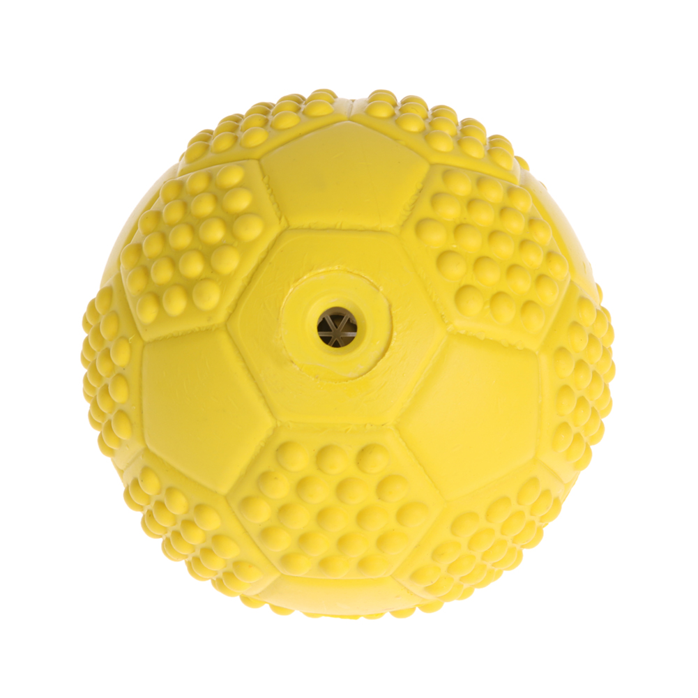 lotsgoods88  Rubber Tennis Ball Pet Dog Puppy Squeaky Play Toy Training Chew Toy Yellow