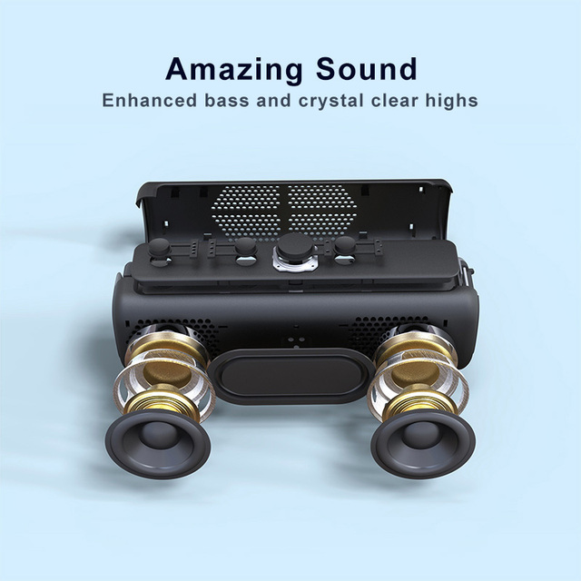 DOSS E-go ll Outdoor Bluetooth Speaker Portable Wireless Speakers IPX6 Waterproof shower speaker Microphone mini speaker for PC