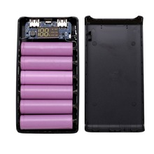 Buy C12 Free Welding 5V 2A LCD Screen Digital Display Power Bank Charger Module DIY Kits Powered By 8x 18650 Battery Drop Shipping directly from merchant!
