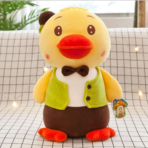 30cmExpression duck doll plush toy down cotton vest gentleman duck doll doll holiday gift