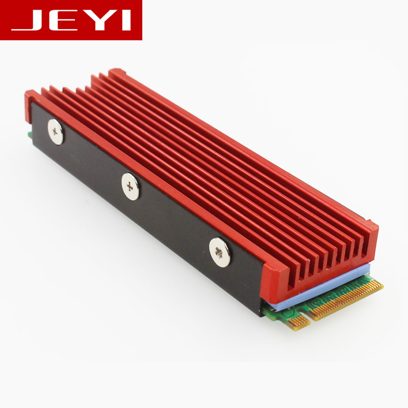 JEYI Cooling Warship Dust-proof NVME NGFF M.2 2280 Aluminum Sheet Gold Bar Thermal Conductivity Silicon Wafer Cooling