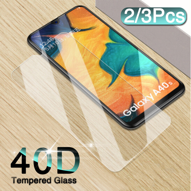 3PCS 40D Tempered Glass On For Samsung Galaxy A50 A40 A30 Screen Protector Film For Samsung Galaxy M20 M10 A20 A10 A70 A60 Glass