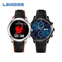 Lemdioe LEM5 الروبوت 5.1 os سمارت ووتش MTK6580 1 جيجابايت/8 جيجابايت دعم نانو سيم بطاقة بلوتوث 4.0 wifi 3 جرام smartwatch gps