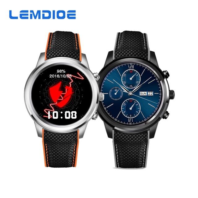Lemdioe LEM5 ОС Android 5.1 Смарт-часы MTK6580 1 ГБ/8 ГБ Bluetooth 4.0 Wi-Fi 3 г SmartWatch поддержка Нано-SIM-карты gps