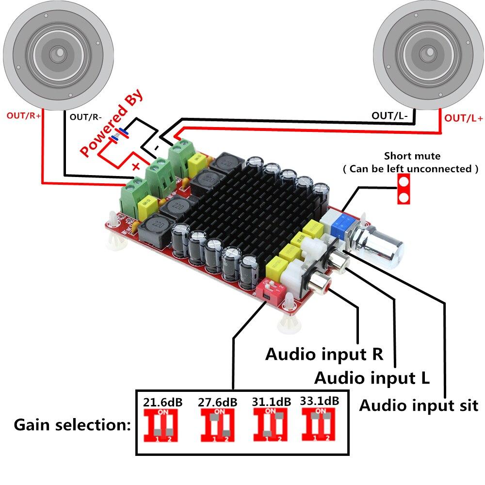 Xh M252 Ac 24v 2x420w Stereo Tda8954th Dual Chip Class D Digital Wiring Diagram Tda7498 2x100w Power Amplifier Board Audio Dc 14