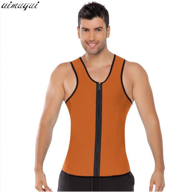 Homem da aptidão suando melhorar trainer trainer cintura corset cincher cintura colete shaper do corpo de emagrecimento terno sauna quente bodysuit