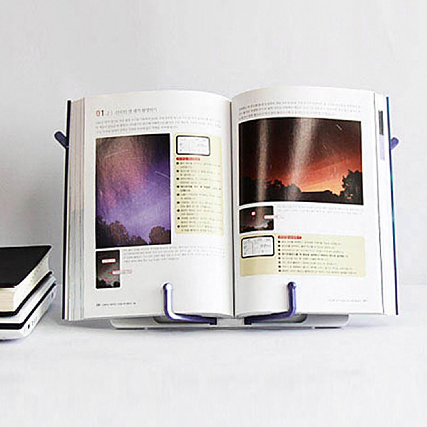 Portable Folding Music Sheet Stand Book Reading Stand Table Holder Desk Mount Applicable For Reading Cook Book Document Magazine