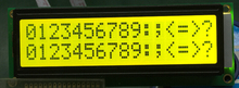 5pcs LCD più grande 1602 16*2 16x2 grande carattere grande formato Giallo verde modulo display lcd 122*44 millimetri HD44780 SPLC780D LMB162GBY