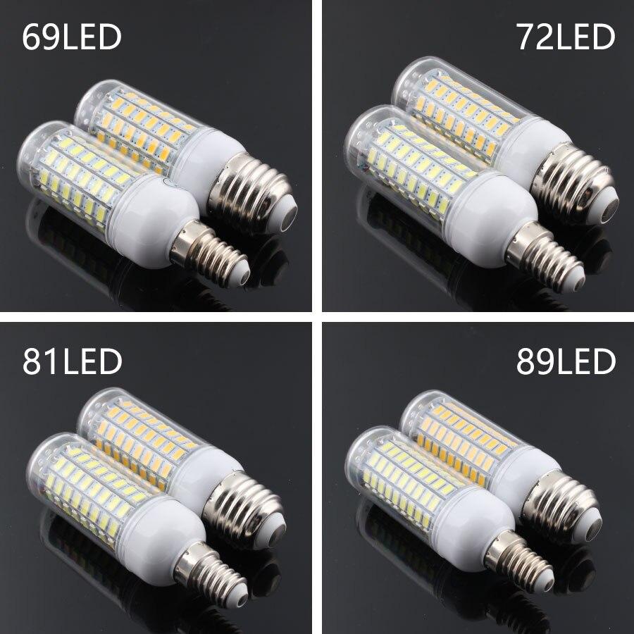 220v Led Lamp Bulb E27 E14 5730 Warm White Smart Home Bulb Led Lamp Light Bulb E14 Led E27 Lamp Smart Home 24 36 48 56 69 72LEDs