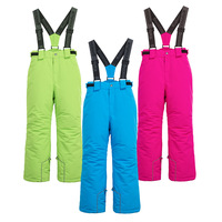 Brand Waterproof Baby Boys Girls Skiing Pants Warm Climbing Trousers Sporty Kids Outfits Children Outerwear For 4 16 Years Old