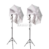4pcs Free Shipping 83CM Reflective Umbrella Photo Studio 2M Light Stand 2pcs Single Lamp Holder