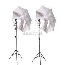 2 шт. 83 см Светоотражающие Зонт фотостудия + 2 шт. 2 м свет подставка + 2 шт. один держатель лампы фотографии софтбокс свет комплект