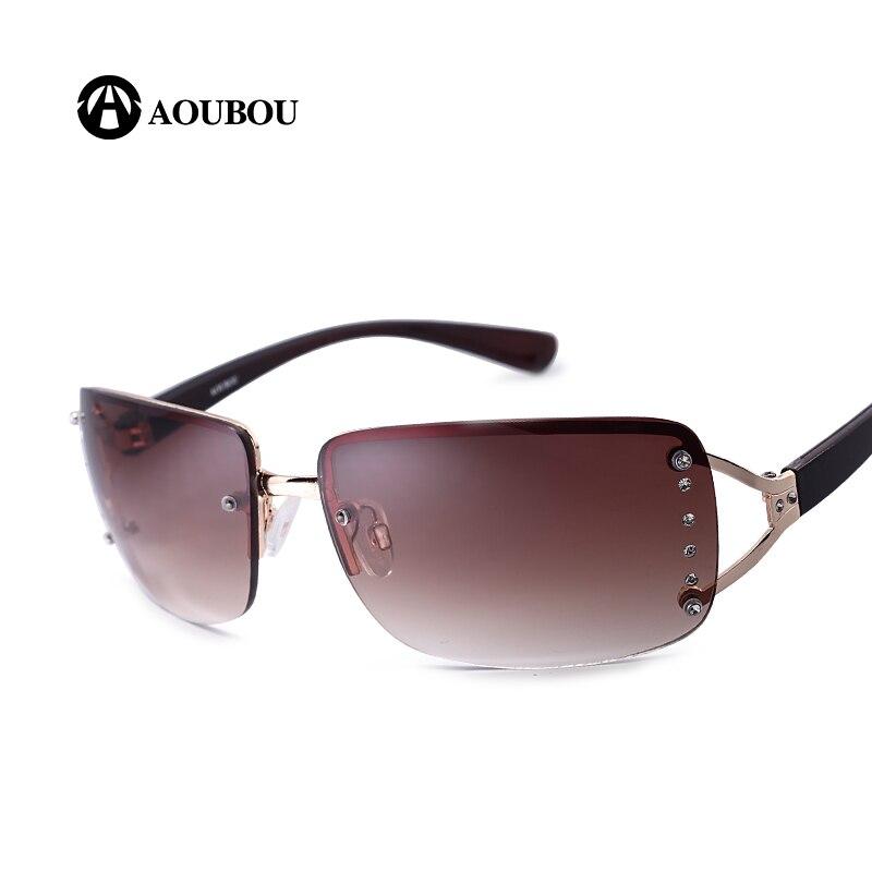 AOUBOU 2017 Vintage Rimless Sunglasses s