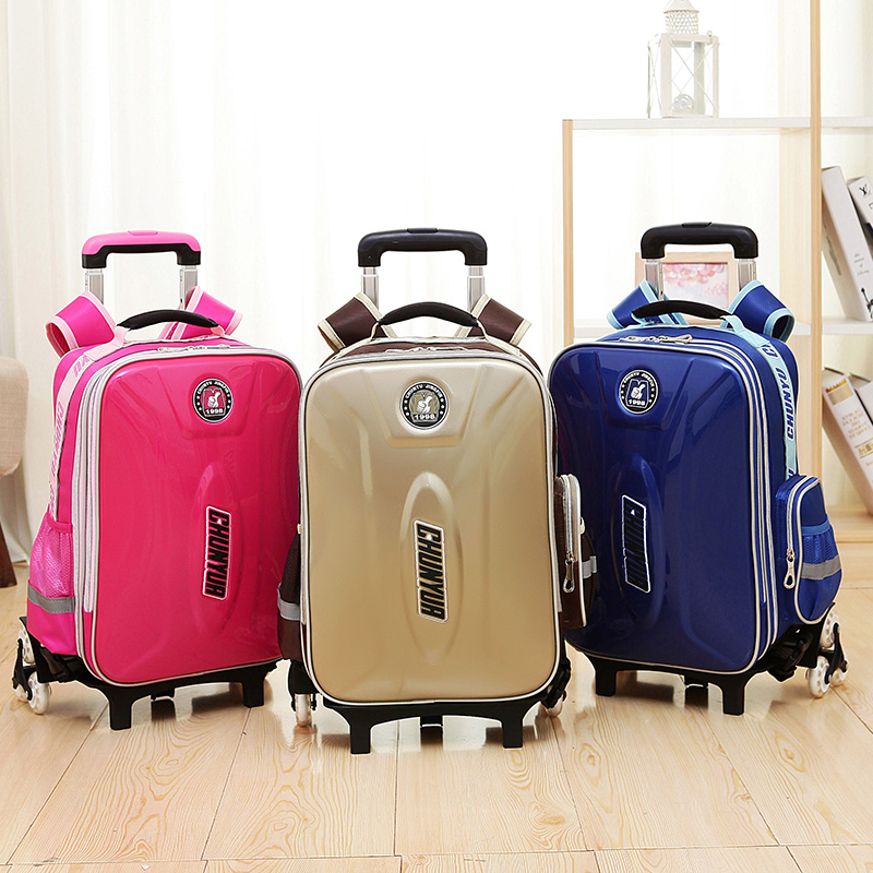 Hand Luggage Trolley Travel Bag 40L Waterproof Oxford Leather Suitcase Bags on Wheels Unisex Rolling Duffle Bag School Bag universal uheels trolley travel suitcase double shoulder backpack bag with rolling multilayer school bag commercial luggage