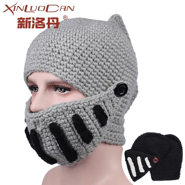 Nueva divertido creativo Vikings Crochet tejida a mano máscara Roma ...