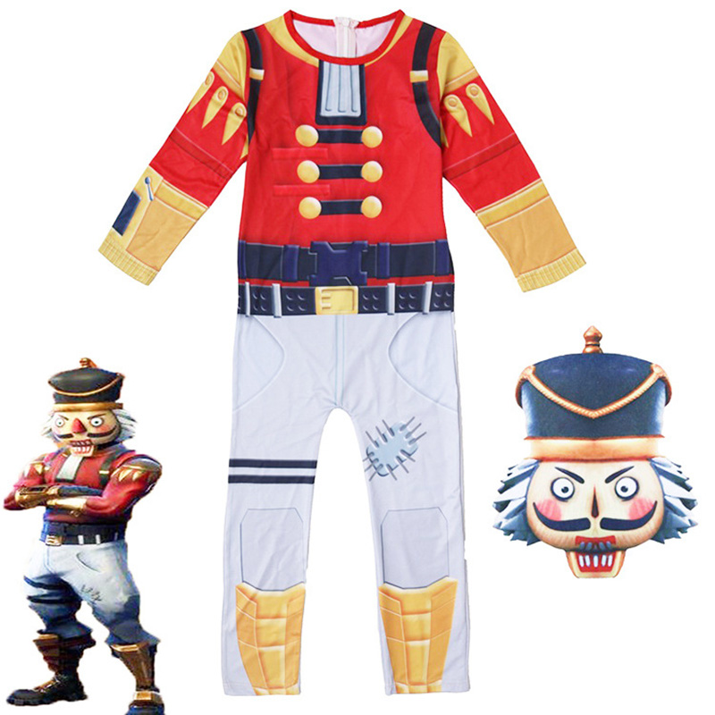 Fortnight Crackshot Jumpsuit Cosplay Costume forts nite Battle Royale for kids FORTRESS night fortniter fortnited