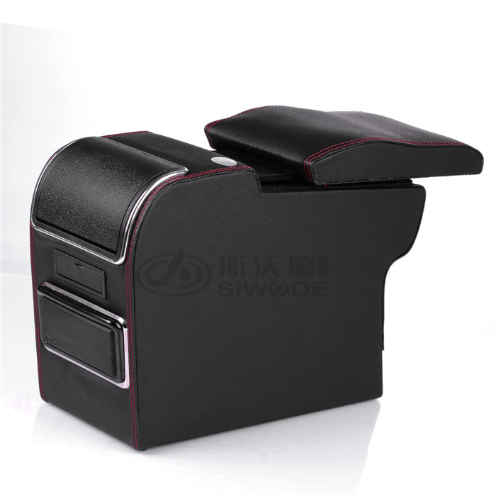 Sward armrest box armrest console box multifunction special car armrest box with USB interface for Peugeot 301 Elysee free punch wooden pu leather special car armrest box with 4 usb hole for peugeot301 citroen elysee smultifunctional car hand box