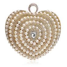 Top New Hard Purse Pearl Single Shoulder Handbag Luxury Wedding Dress Women Evening Bag Day Clutches Messenger Bags Handbags
