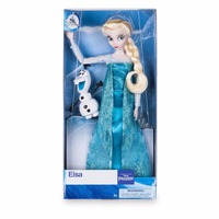 Original DISNEY Store Frozen princess Elsa Classic princess Doll with Olaf Figure toys For children gift