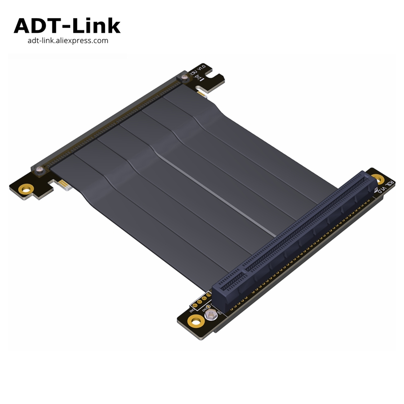 Elbow PCI-E 3.0 x16 To x16 Gen3.0 Riser card PCI Express PCI E pci-express 16x Extension Ribbon Cable For ITX Motherboard case