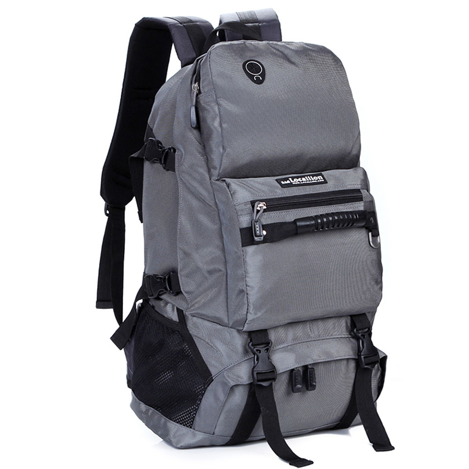 LOCAL LION 40L Men Women Outdoor Backpack Hiking Rucksack Waterproof Sport Bags Mountaineer Climbing Bag Camping Backpack-in Climbing Bags from Sports & Entertainment    1