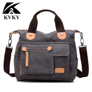 Image 1 - New Women Bag Canvas Handbags Messenger bags for Women Handbag Shoulder Bags Designer Handbags High Quality bolsa feminina